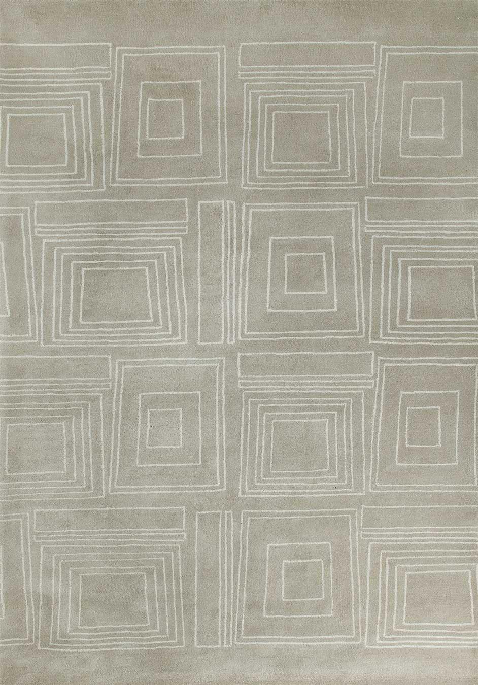 Frames rug in Sandstone colourway overhead image
