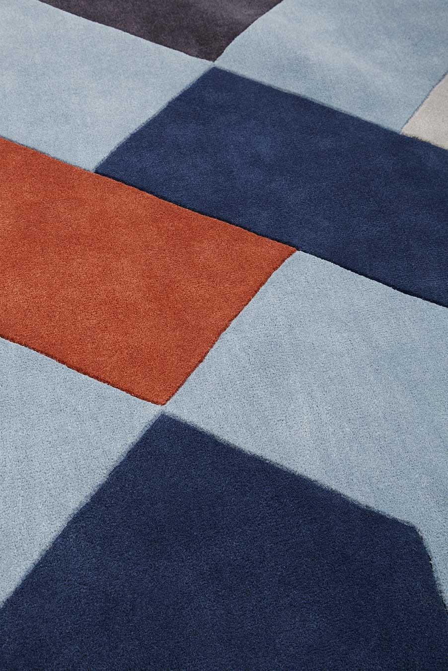 detailed image of geometric Fuse rug
