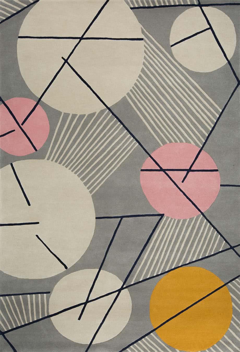 Futurist rug in Seal colourway overhead image