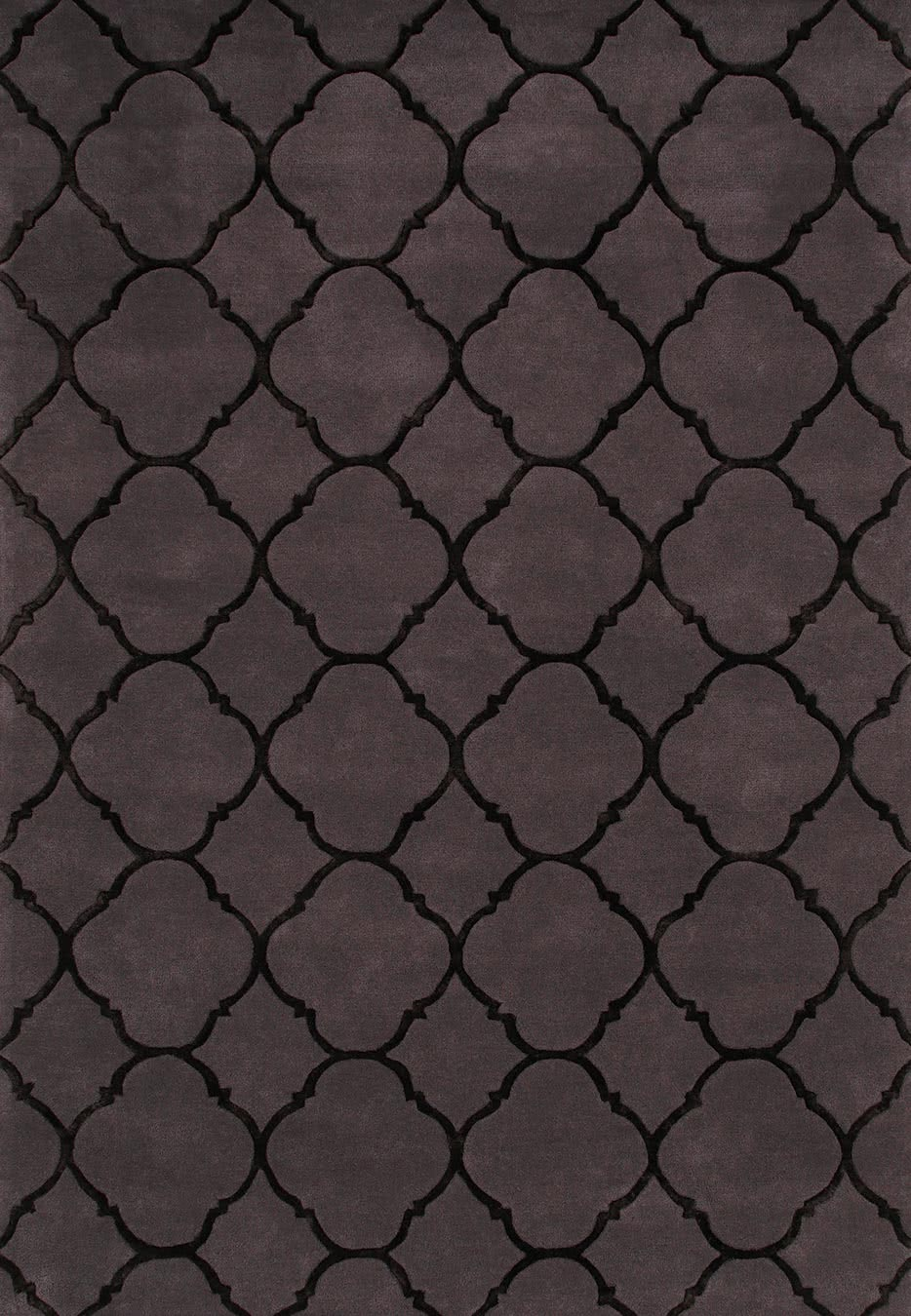 Istanbul rug in dark grey colourway overhead image