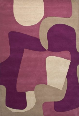 Jigsaw rug in Lithium colourway overhead image