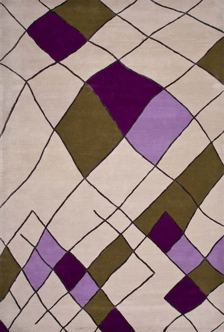 Kandira rug in mauve colourway overhead image