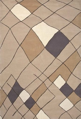 Kandira rug in sandstone colourway overhead image