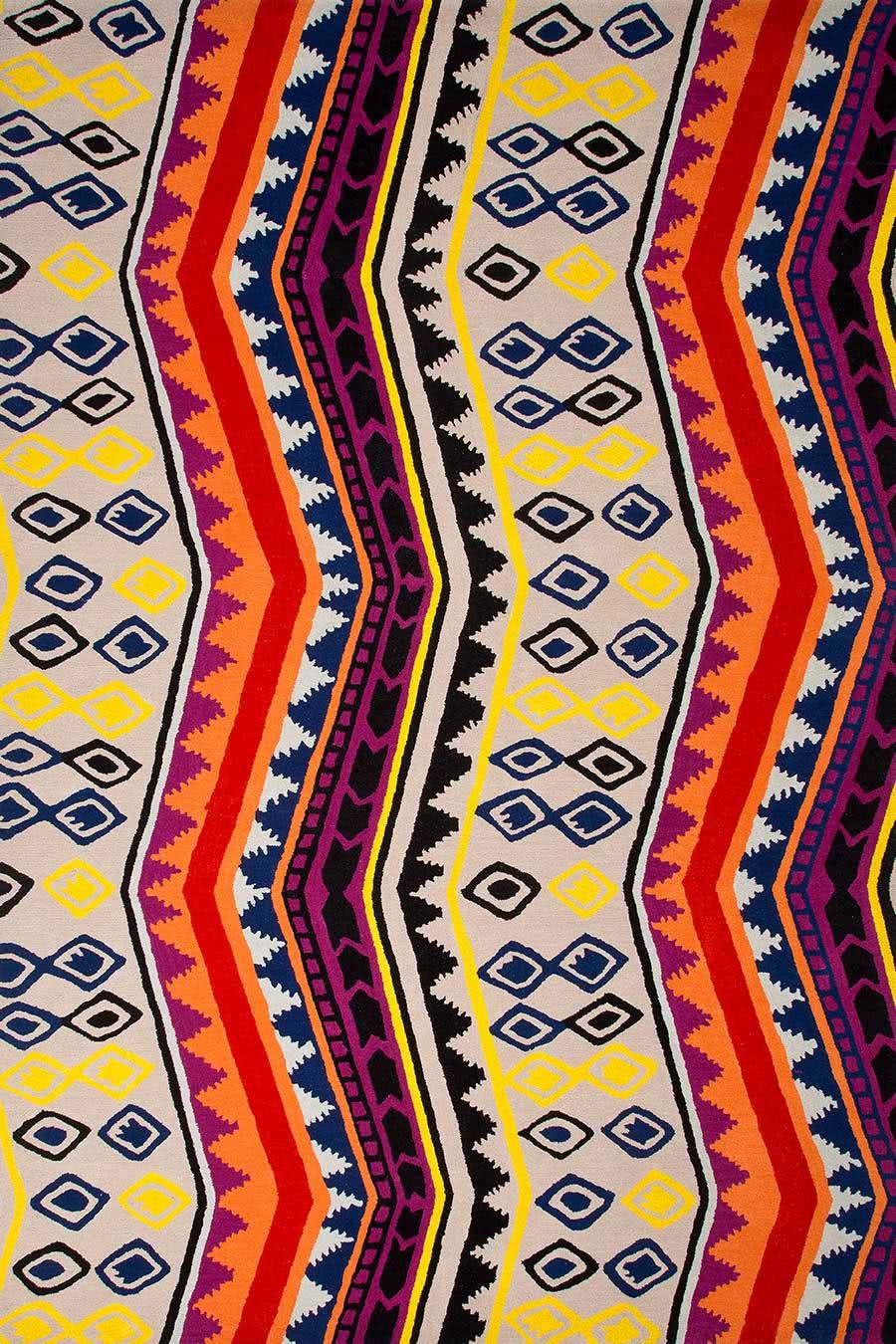 Modern Tribe rug overhead image