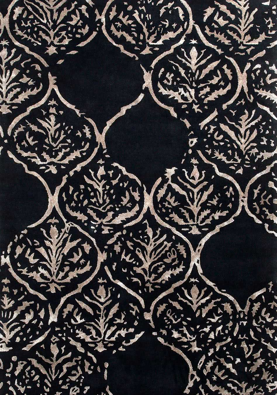 Othello rug in dark navy colourway overhead image