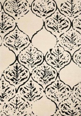 Othello rug in latte colourway overhead image