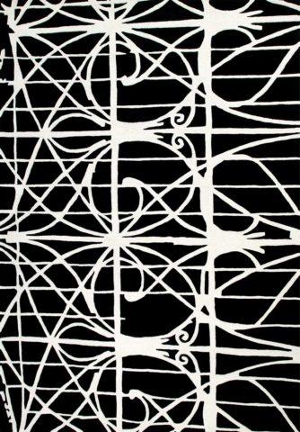 Paddington rug in Station Black Colourway overhead image