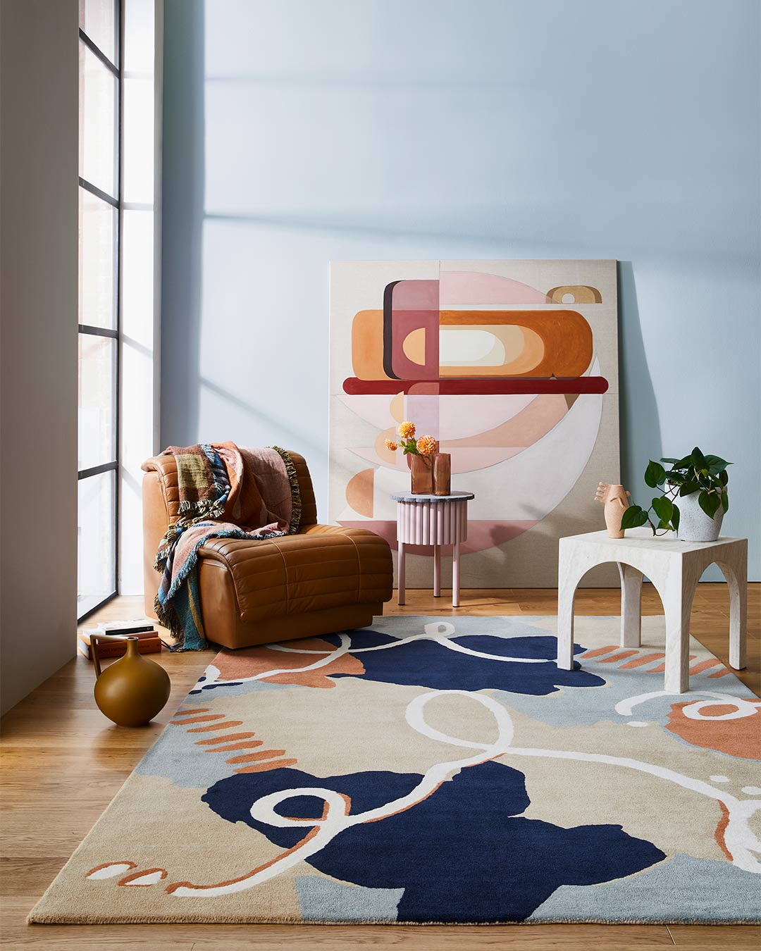 Styled image of abstract Palette rug