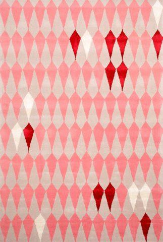 Pear Melb rug n pink colourway