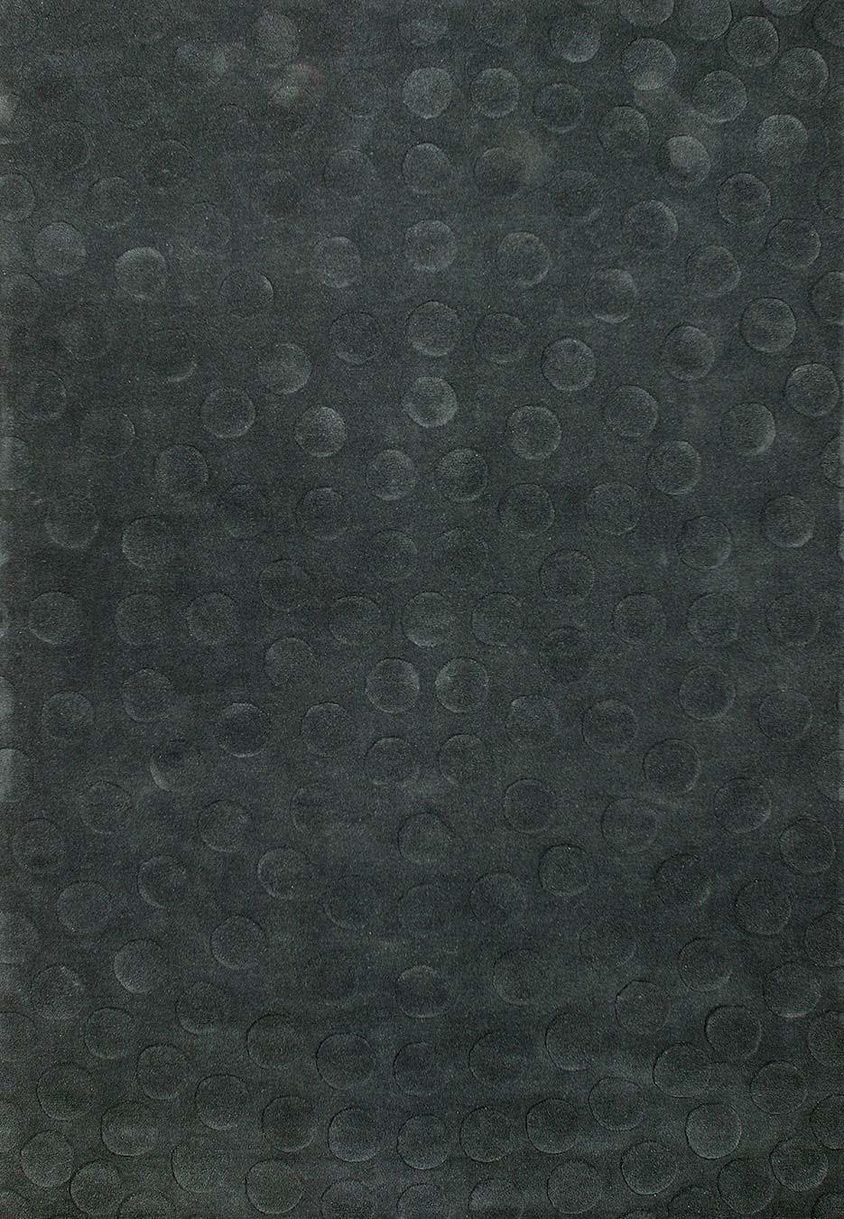 Radiate rug in Charcoal colourway overhead image