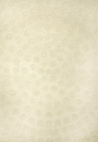 Radiate rug in cream colour overhead image