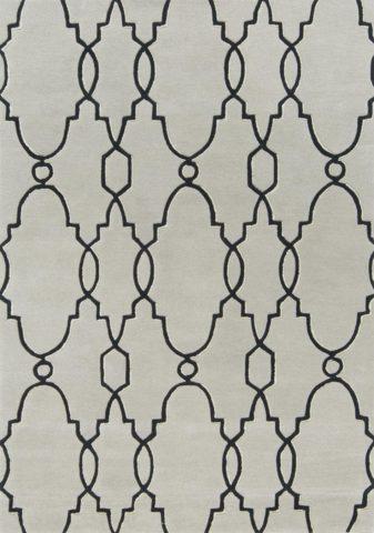Samsun rug in silver colourway overhead image