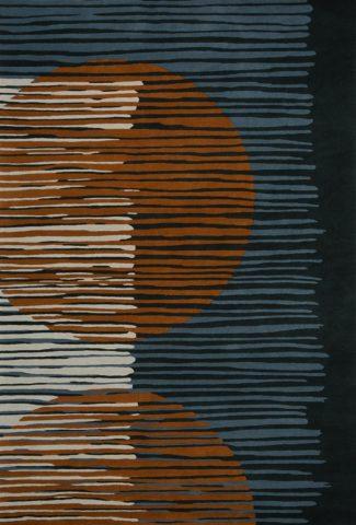 Satellite rug in copper colourway overhead image