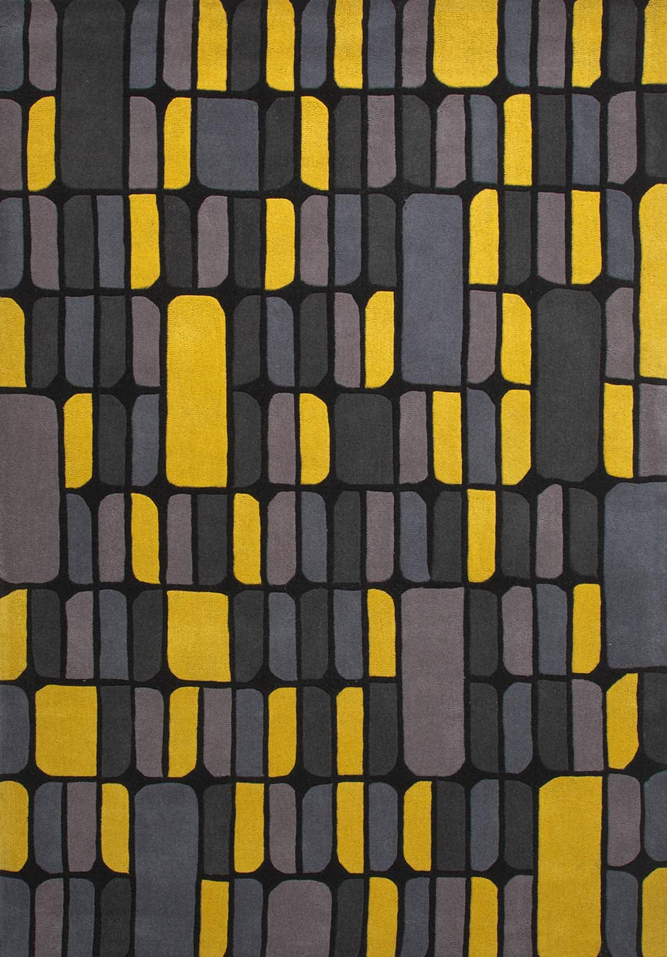 Silicon rug in sunshine colourway overhead image