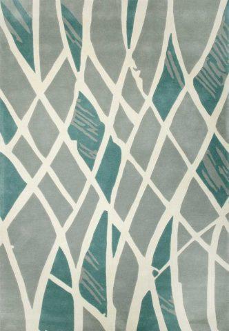 Sway rug in azure colourway overhead image