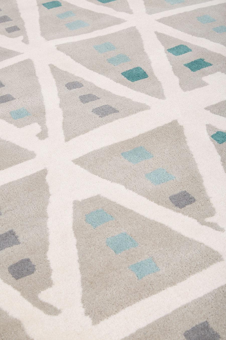 Detailed image of geometric Teepee rug