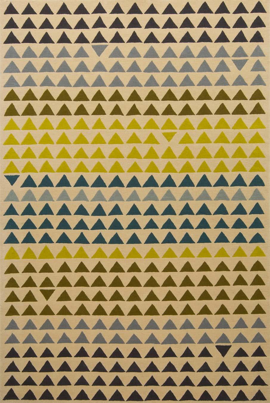 Tribeca rug in citrus colourway overhead image