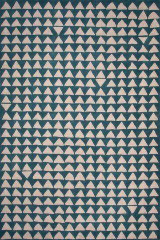 Tribeca rug in ocean colourway overhead image