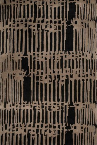 Watergate rug in charcoal colourway overhead image