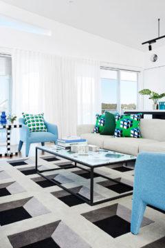 Custom hand tufted rug