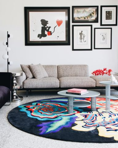 Floral Allsorts hand tufted rug by Romance Was Born