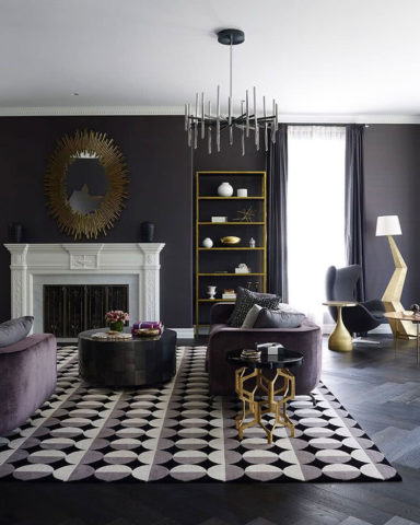 Custom London handknotted rug by Greg Natale