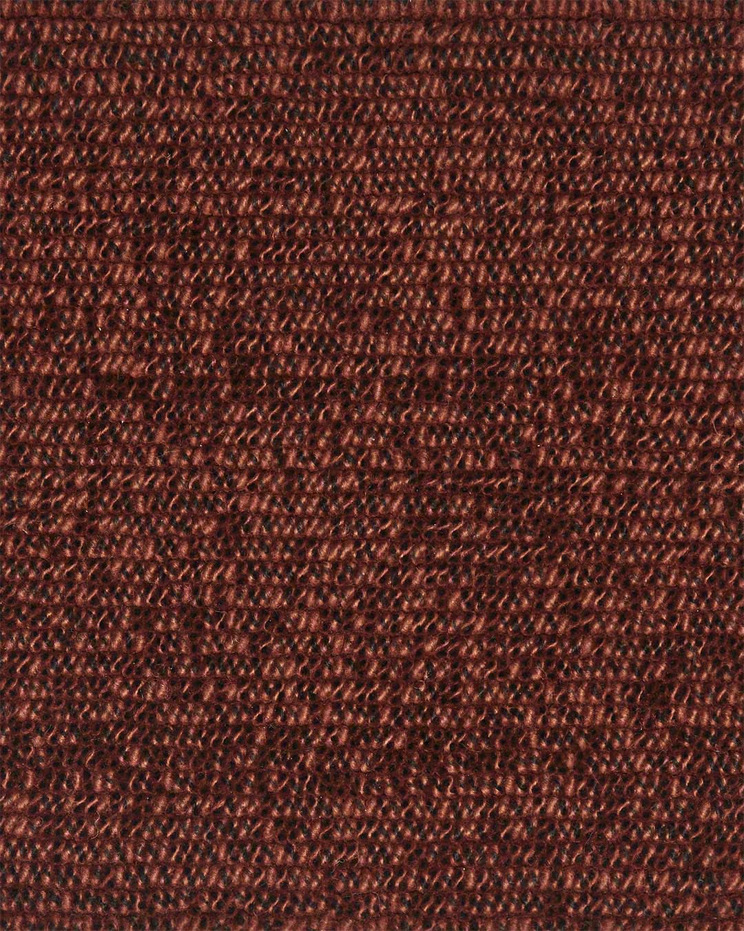 Close up view of textured Coral Tip Shear Loop rug in brown colour
