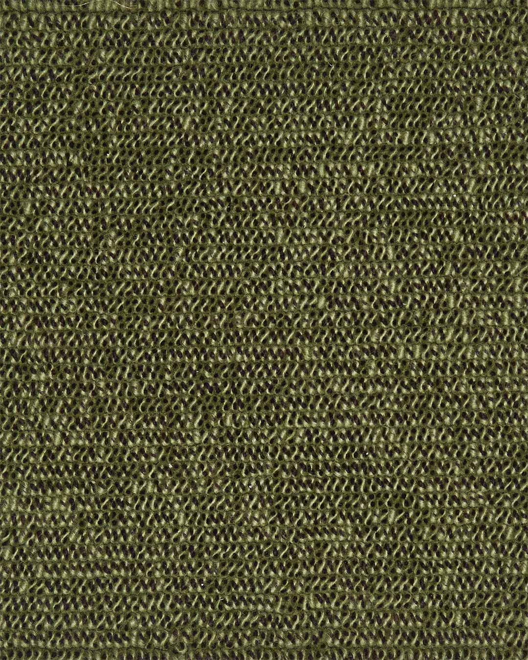 Close up view of textured Coral Tip Shear Loop rug in olive green colour