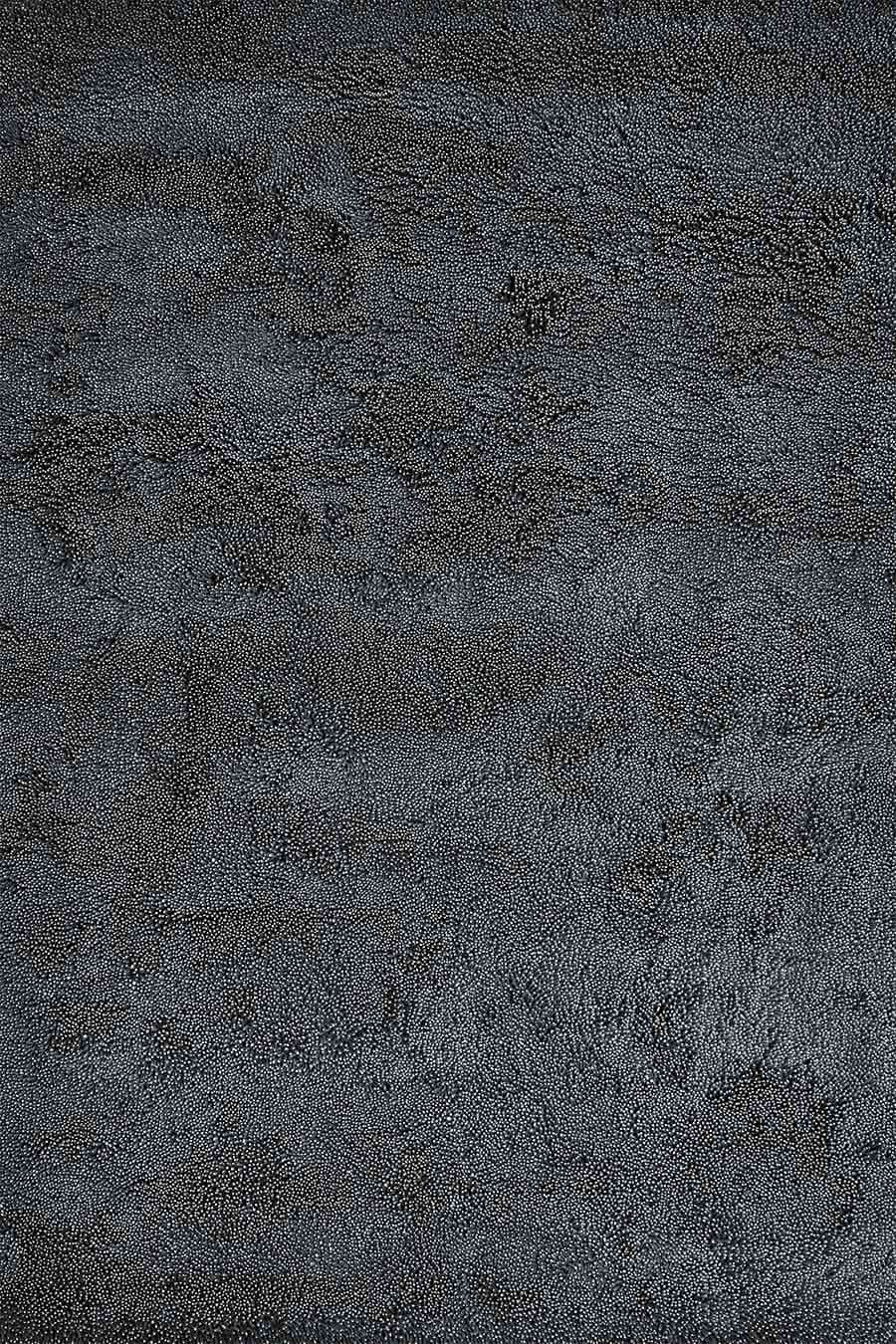 Overhead view of textured Coral Shag rug in charcoal colour