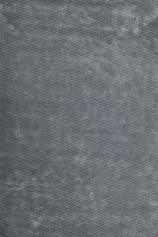 Overhead view of textured Diamond Velour rug in grey colour