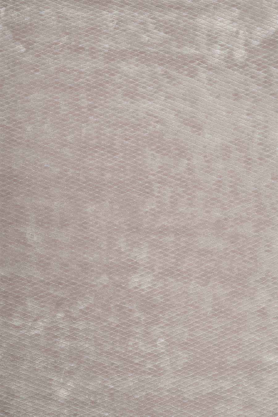 Overhead view of textured Diamond Velour rug in light beige colour