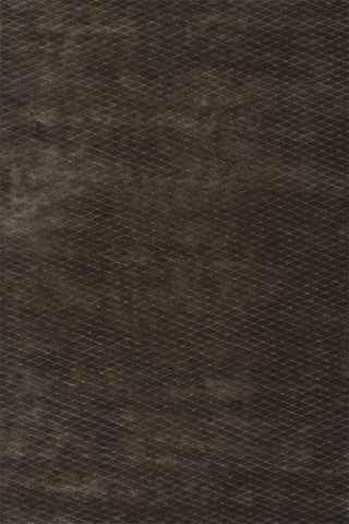 Overhead view of textured Diamond Velour rug in dark brown colour