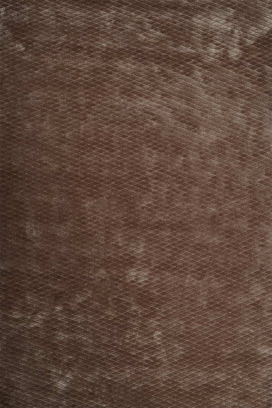 Overhead view of textured Diamond Velour rug in brown colour