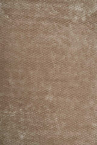 Overhead view of textured Diamond Velour rug in taupe brown colour