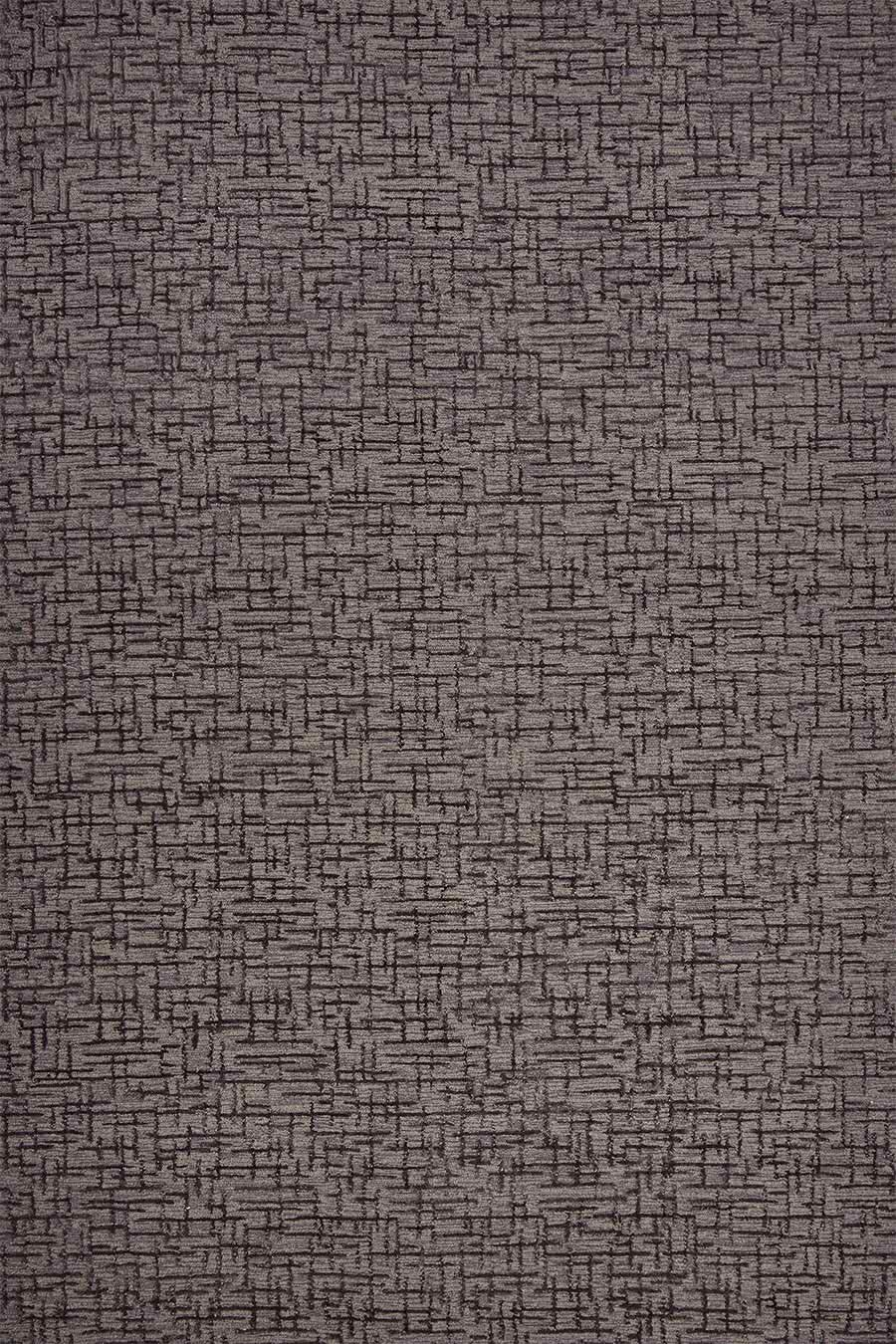 Overhead view of textured Krypton rug in charcoal grey colour