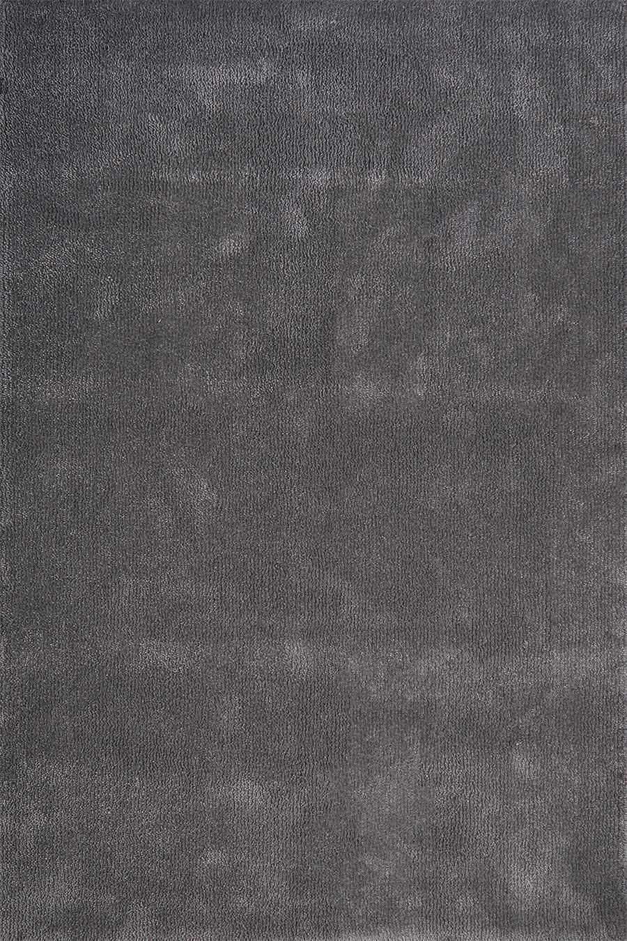 Overhead view of textured Napoleon Jay Shag rug in grey colour