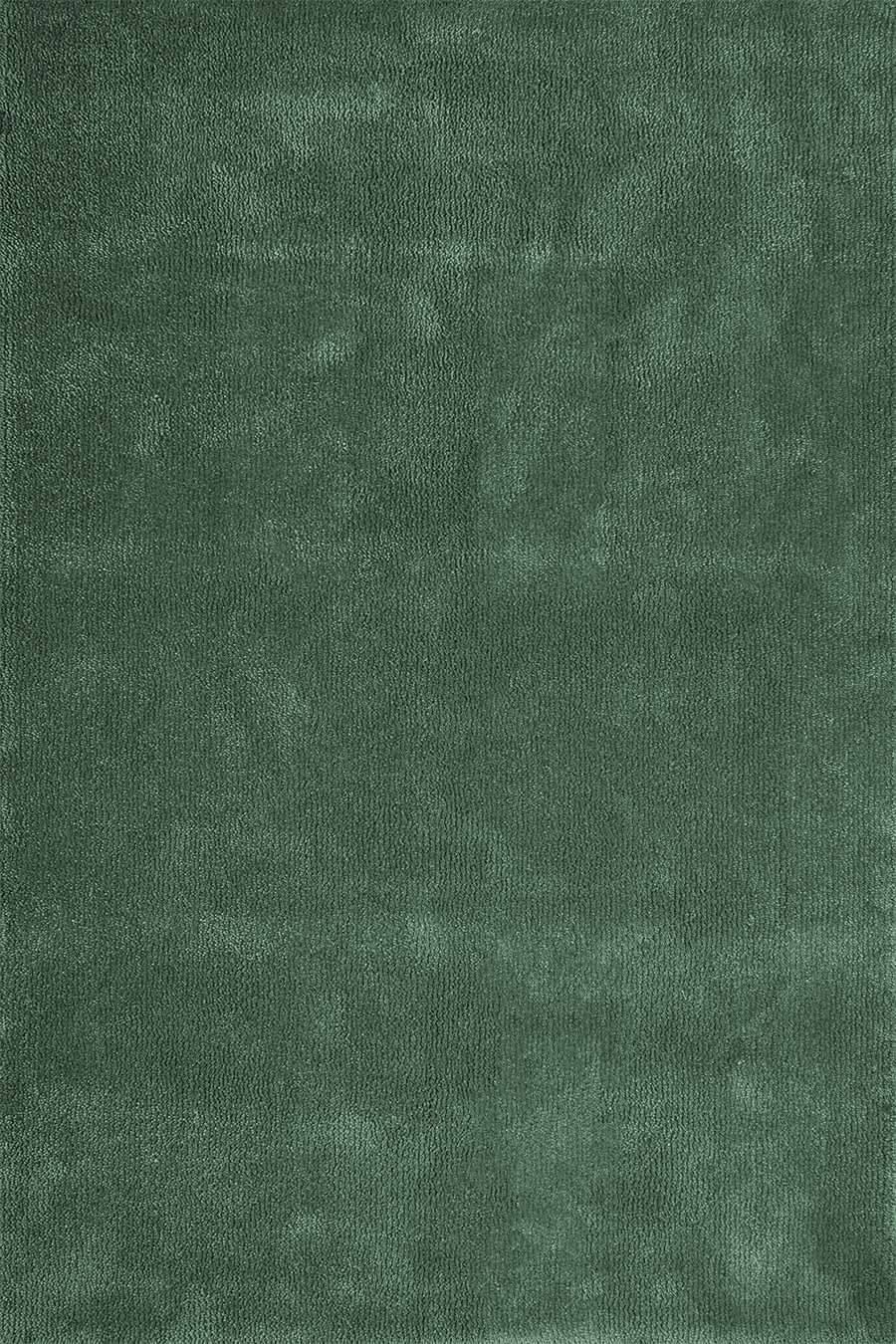 Overhead view of textured Napoleon Jay Shag rug in light green colour