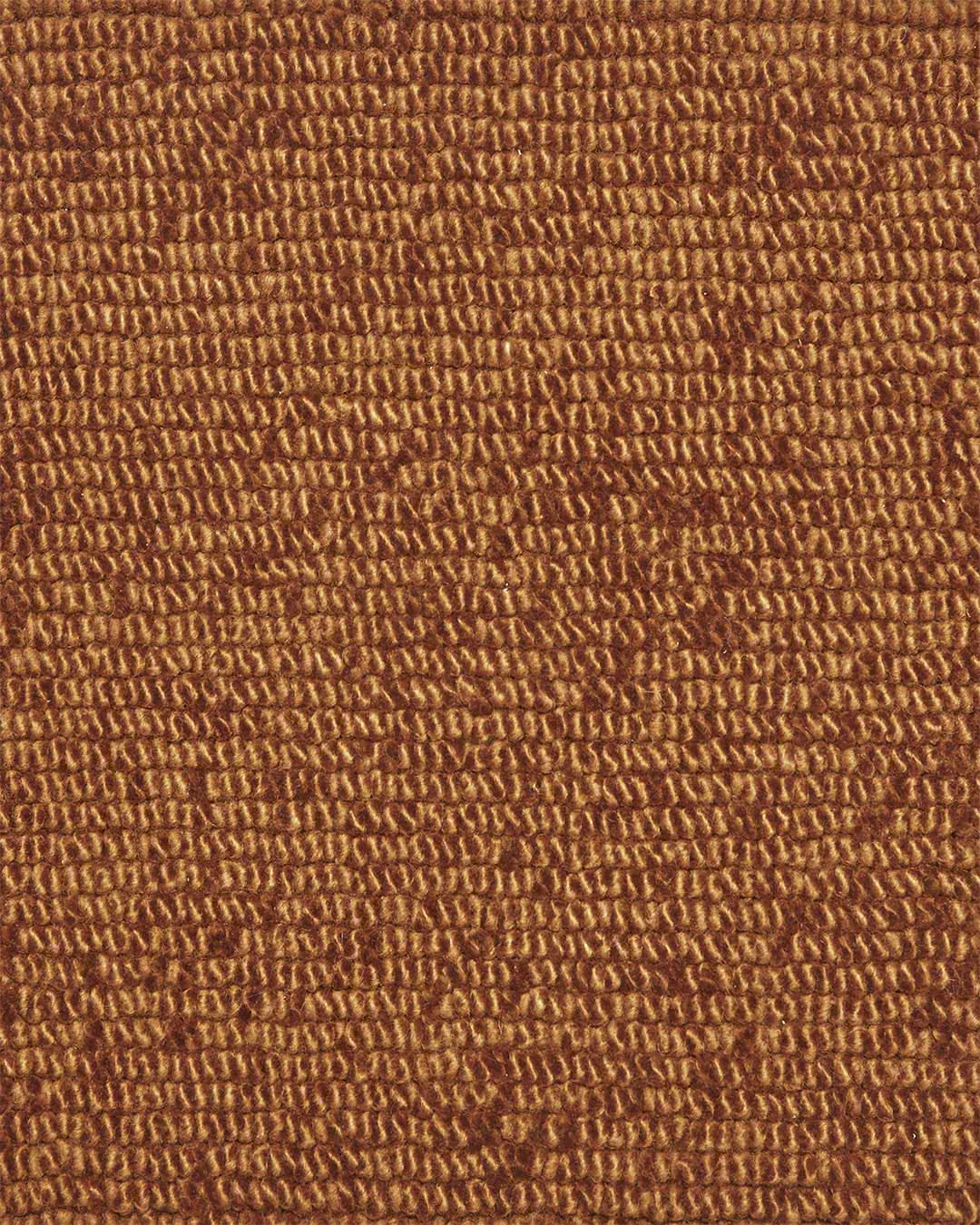 Close up view of textured Napoleon Tip Shear Loop rug in bronze brown colour