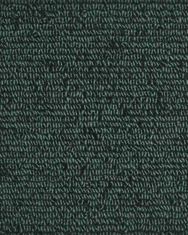 Close up view of textured Napoleon Tip Shear Loop rug in dark green colour