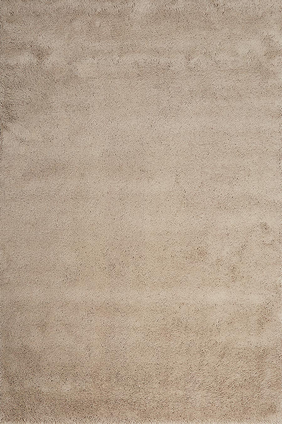 Overhead view of textured Napoleon Shag rug in beige colour