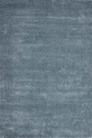Overhead view of textured Nickel rug in denim colour