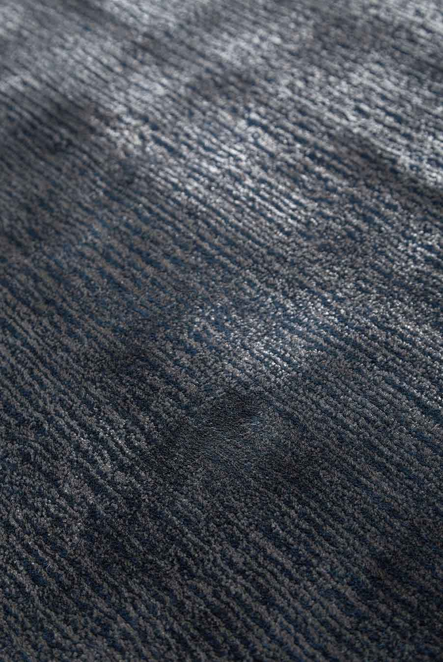 Close up view of Safari rug in navy mix colour
