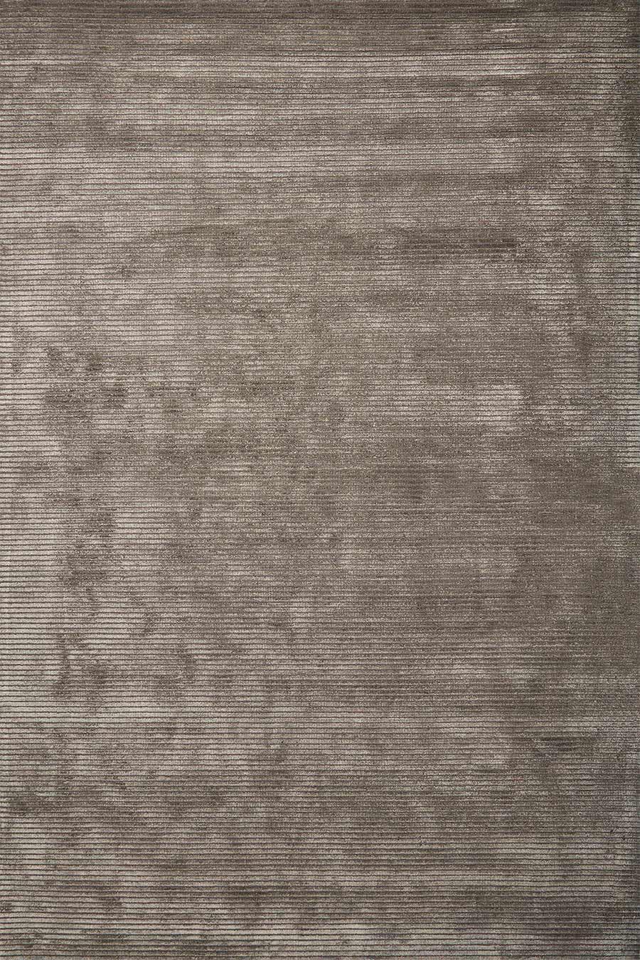 Overhead view of textured Velour rug in dark beige colour